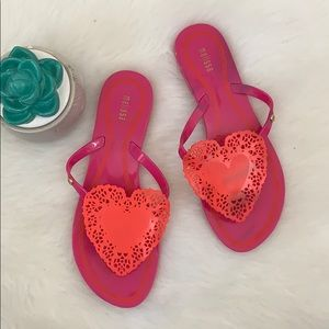 Melissa | jelly flats slipper sandals with heart